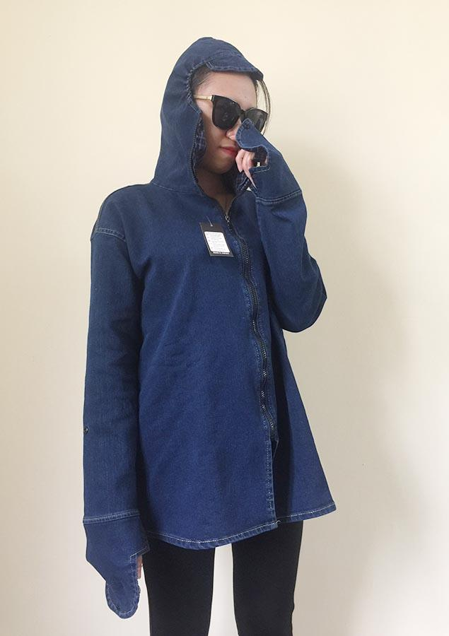 Áo Khoác Jeans Chống Nắng 1 Túi Ngực (Bigsize 55-90kg) - VNXK