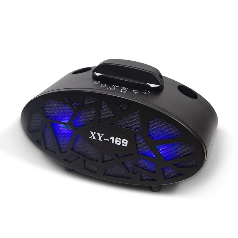 Loa Karaoke Kết Nối Bluetooth Mini Kèm 2 Micro Không Dây Hát Cực Hay - Giao Màu Ngẫu Nhiên