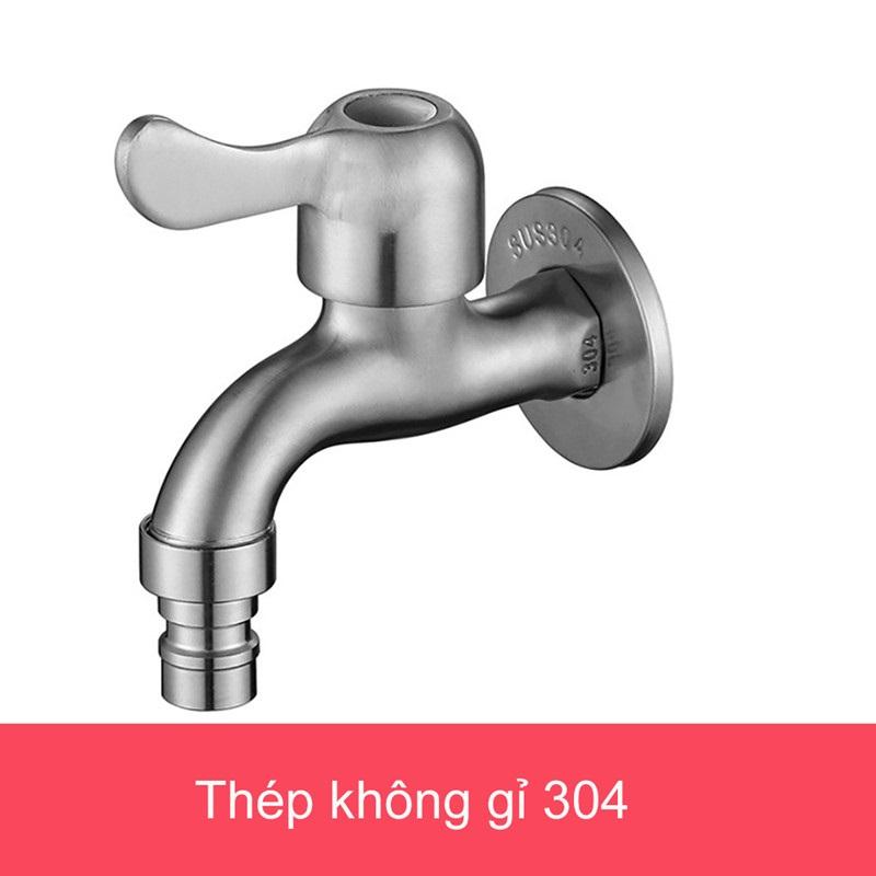 Đầu vòi nước - Vòi máy giặt Inox 304