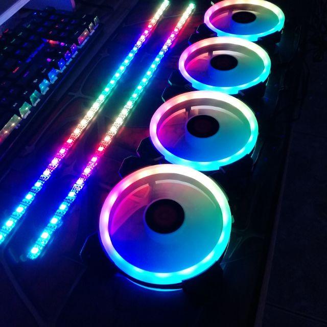 Bộ 3 Quạt + Khiển Coolmoon RGB V2 - Hàng nhập khẩu