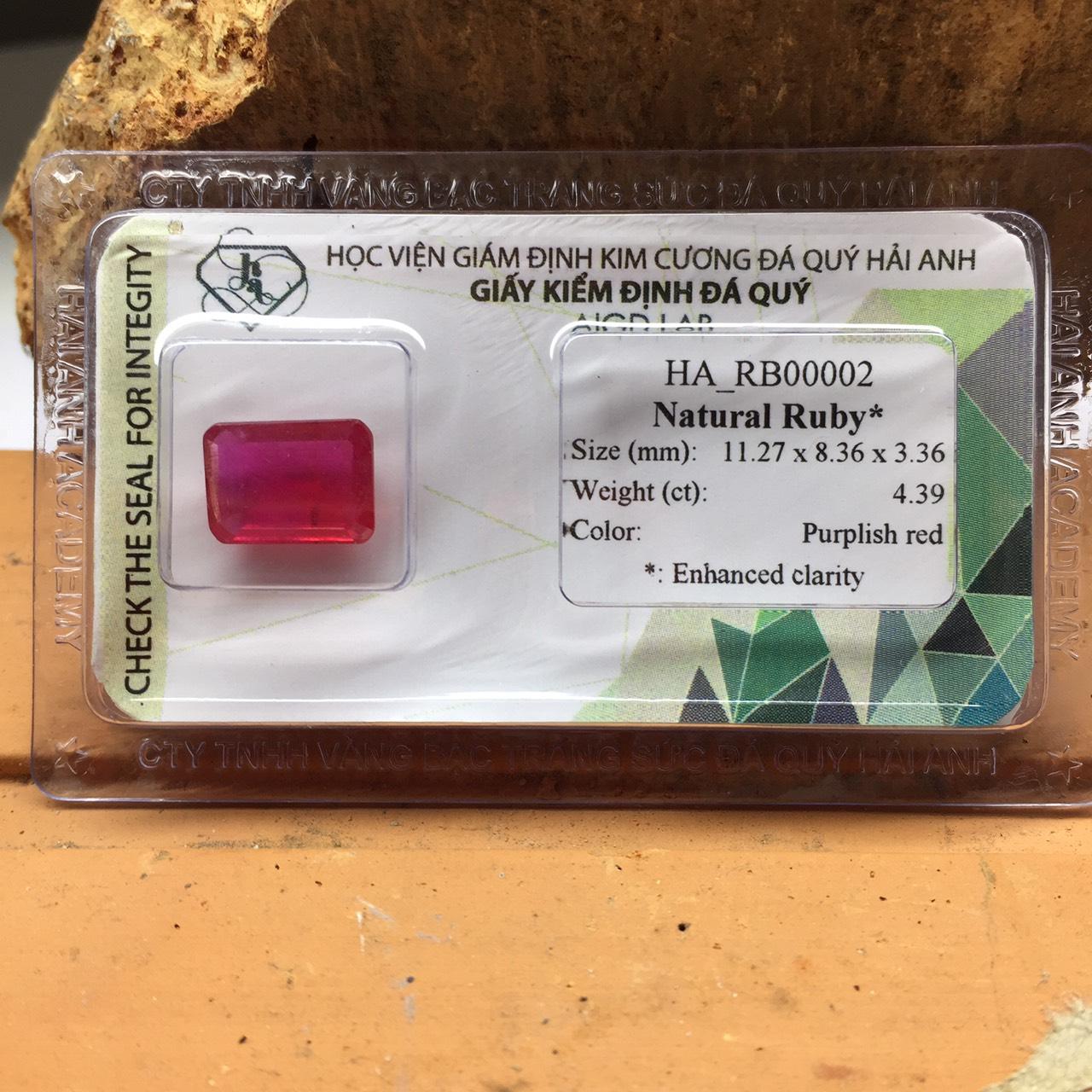 Viên đá Ruby thiên nhiên_HA-RB00002
