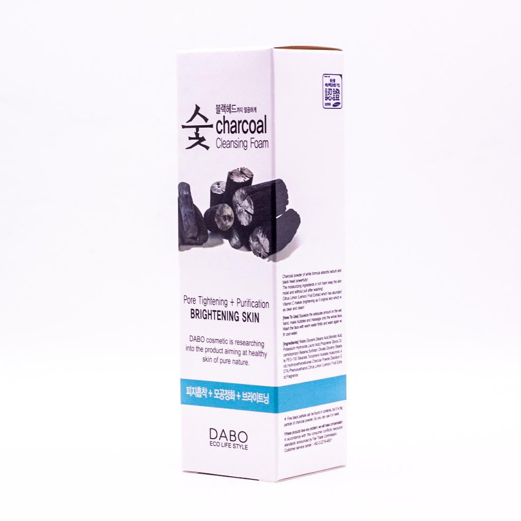 Sữa rửa mặt cho da dầu Dabo Charcoal Cleansing Foam - Than hoạt tính 150ml