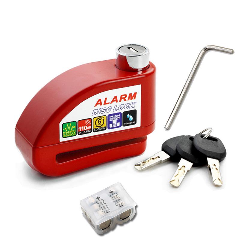 Bộ khóa đĩa xe máy chống trộm có báo động (Giao màu ngẫu nhiên)