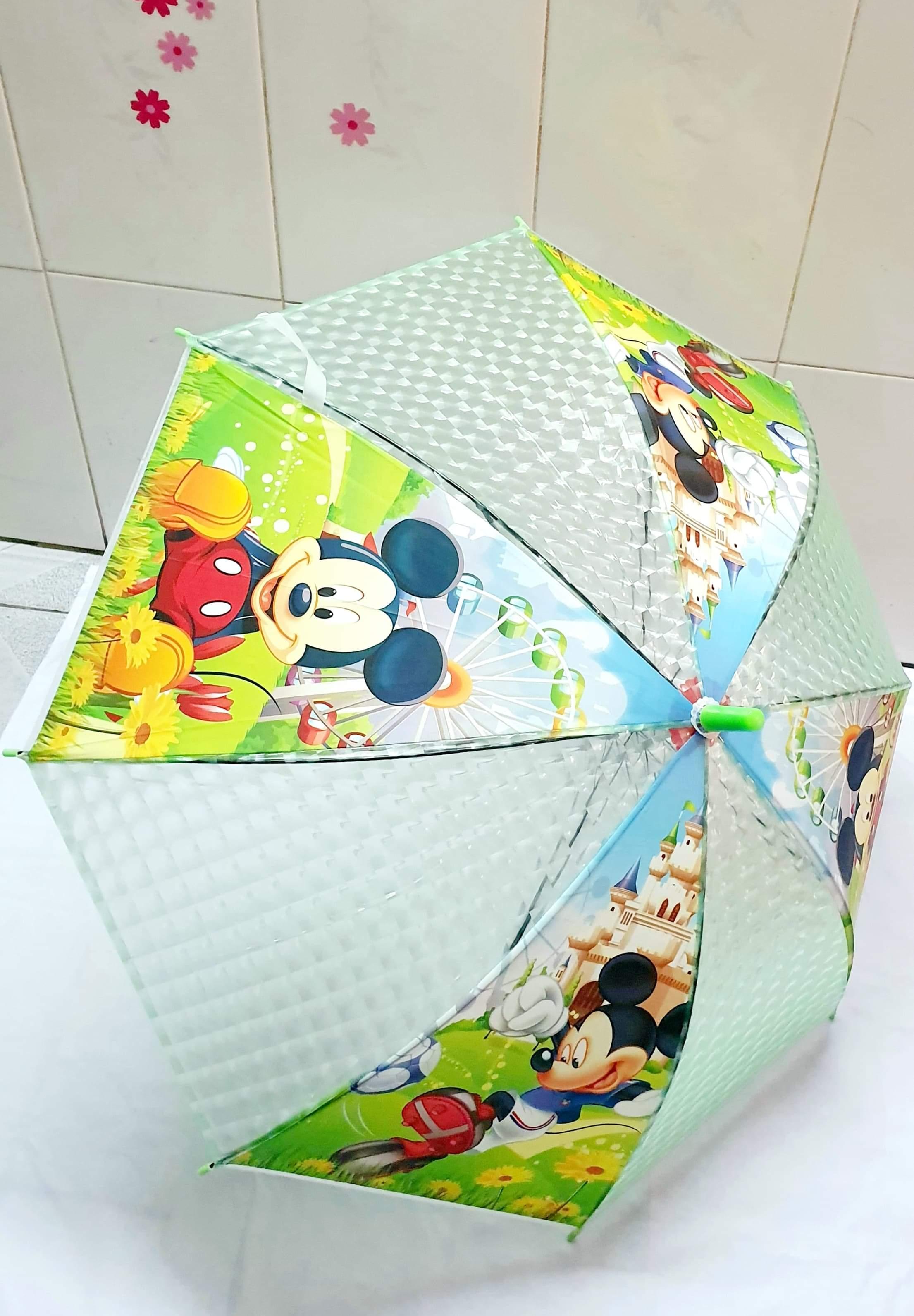 Dù che mưa nắng cho bé in họa tiết hoạt hình 3D dễ thương(màu và hình ngẫu nhiên)