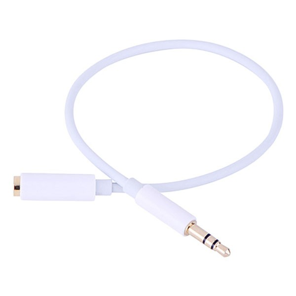 Cáp nối dài cao cấp AV 3.5 ra 2 đầu âm, màu trắng Ugreen 10780 - Hàng Chính Hãng