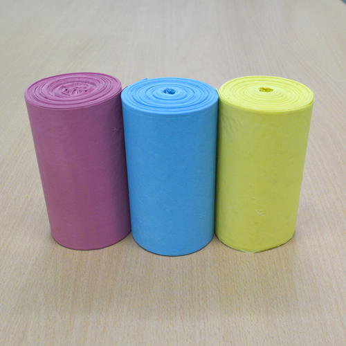 Combo 5 bịch túi rác 3 màu thân thiện môi trường size đại (64*78 cm) +  Tặng 1 bịch túi rác cùng loại