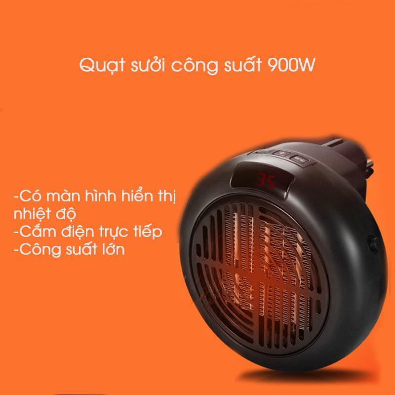 Quạt sưởi mini cắm điện có chức năng điều chỉnh nhiệt độ