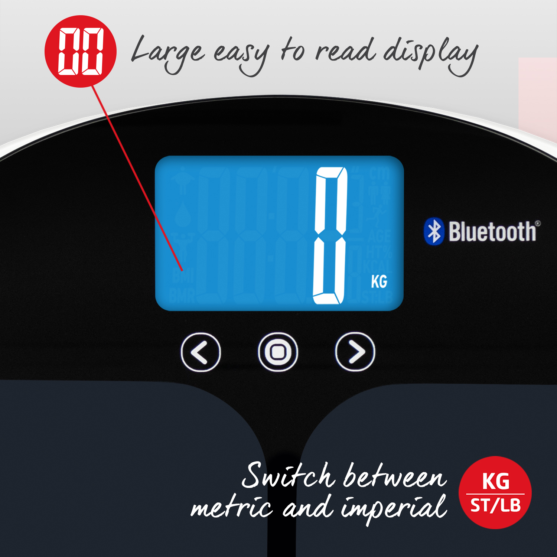 Cân phân tích chỉ số cơ thể thông minh Salter 9192BK3R - Kết nối qua app
