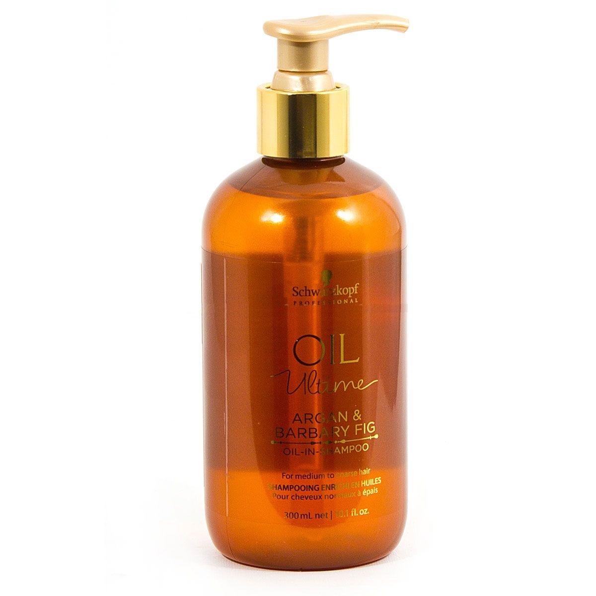 Dầu gội Schwarzkopf OIL Ultime Argan & Barbary Fig Oil shampoo chăm sóc tóc to sợi thô cứng