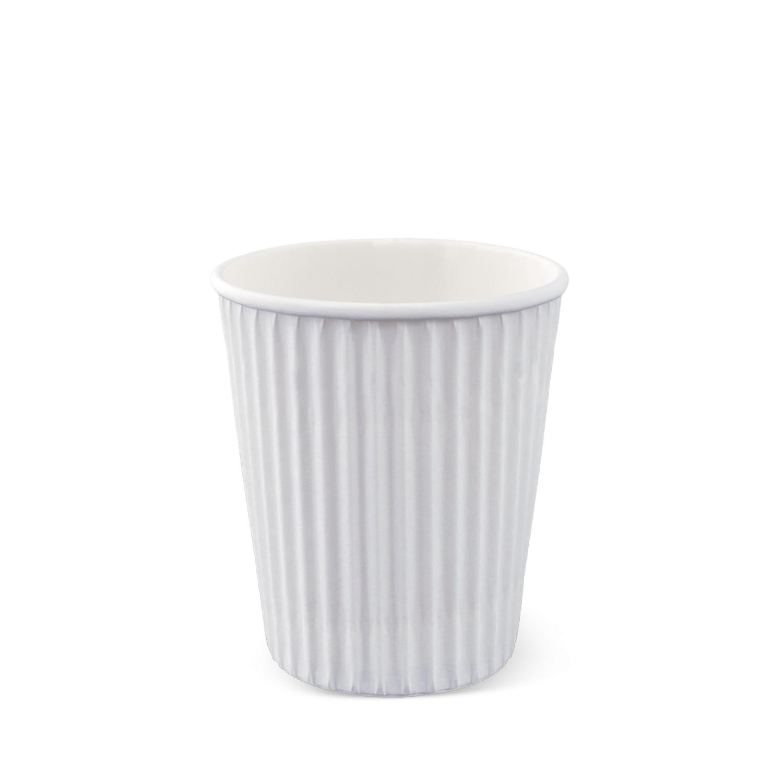 Ly giấy nóng bọc kraft chống nóng trắng Detpak dung tích 240ml- 50 ly/gói