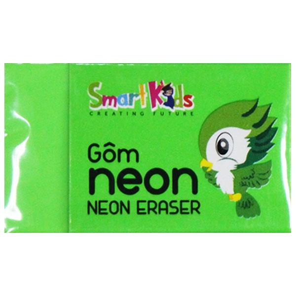 Bộ 4 Gôm Neon SK-ER3001GR - Màu Xanh Lá
