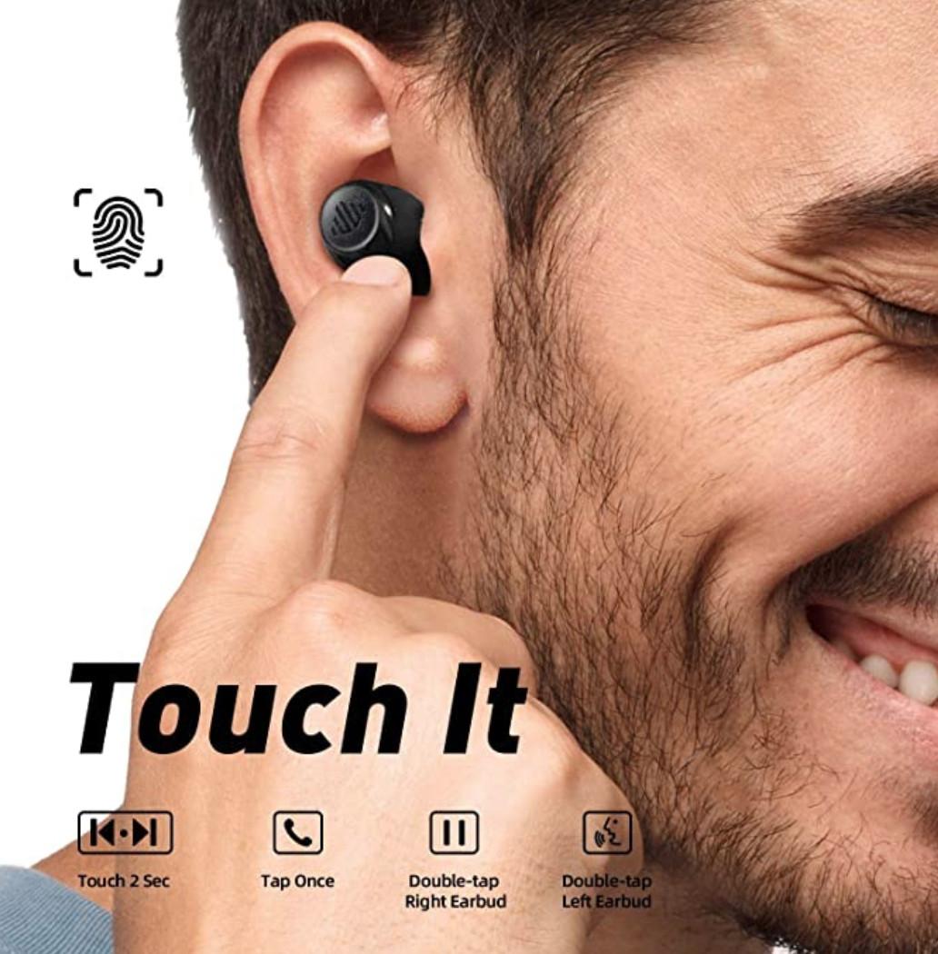 Tai Nghe True Wireless ENACFIRE F1 Kiêm Sạc Dự phòng 2600mAh, Thời Lượng Nghe Nhạc Lên Đến 8h - Hàng Chính Hãng