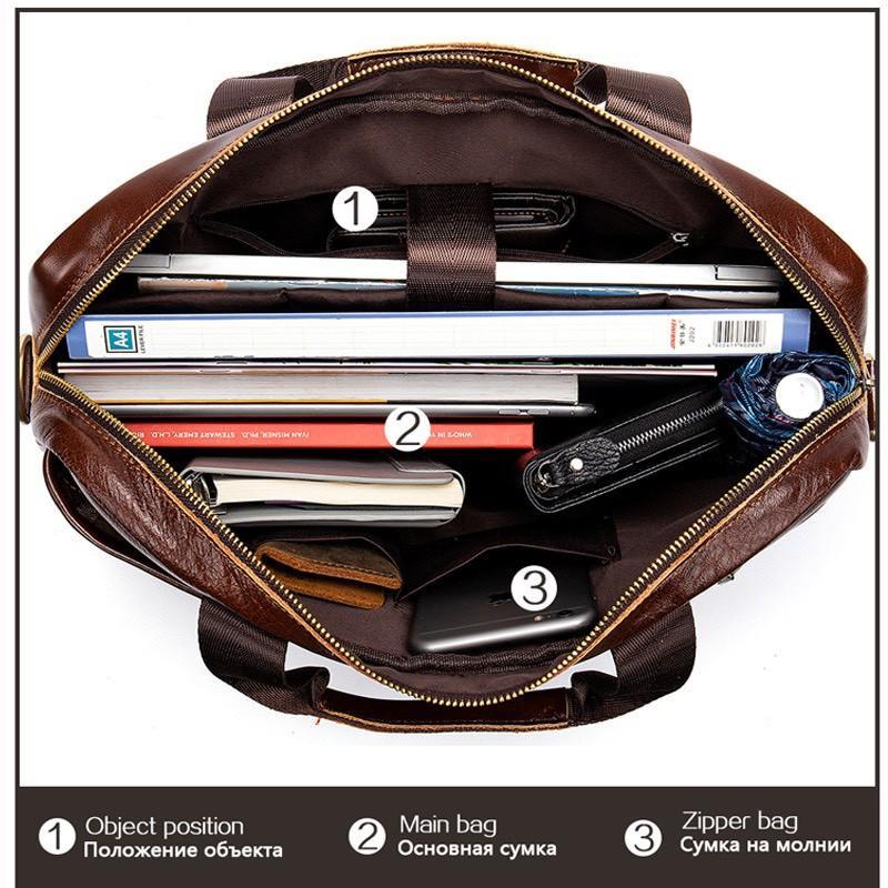 Túi xách cặp da đựng laptop da bò cao cấp T38 39.5x28.5x6.7cm (Nâu-Đen-Xám-Xám Xanh)