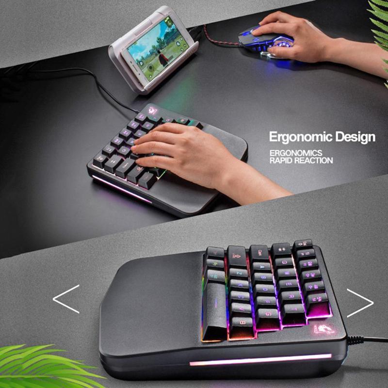 Bộ Bàn phím giả cơ FREE WOLF K11  và chuột FREE WOLF V5 chuyên game có thể chơi game trên điện thoại, ipad, latop - Hàng Chính Hãng