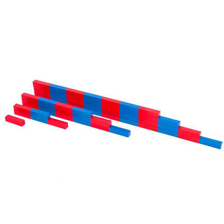 Bộ Gậy số size đại 10 đến 100 cm – Numerical rods Giáo cụ Montessori