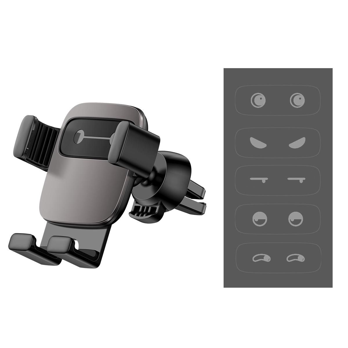 Bộ đế giữ điện thoại trên xe hơi Baseus Cube Gravity Vehicle-Mounted Holder (Air Vent, Navigation Car Mount) Đen - Hàng chính hãng