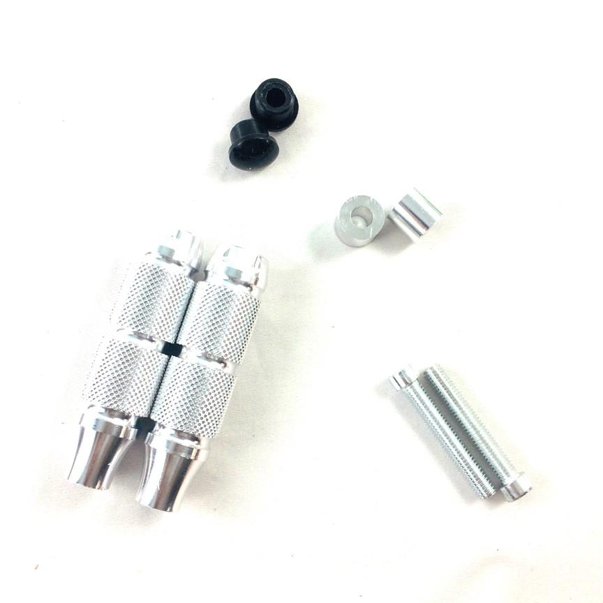 Bộ 2 Gù chống đổ sau dành cho các dòng xe máy ( màu bạc )