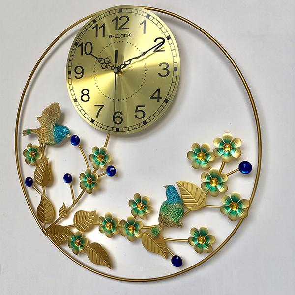 Đồng hồ treo tường MONSKY GCLOCK loại to 50X50 (cm) cao cấp làm từ kim loại sơn tĩnh điện chạy máy kim trôi chuẩn (1923)