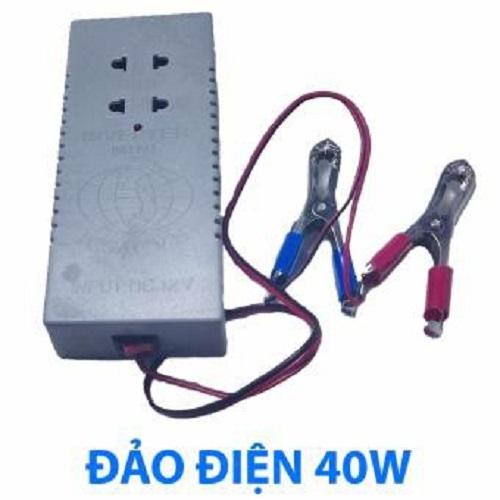 Bộ Chuyển Điện Inverter 12V Ra 220V Công Suất 40W-Bộ đảo điện Inverter 12V Lên 220V 40W có sẵn ổ cắm Tặng kèm bút thử điện