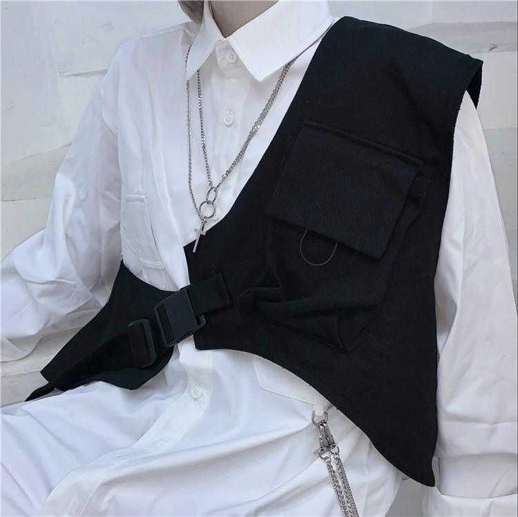 Áo vest ghi lê ba lỗ Khaki Ulzzang Quảng Châu AGJ5
