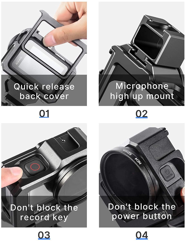 Khung Bảo Vệ Máy Ảnh Ulanzi G9-5 Metal  Camera Cage dành cho GoPro Hero 9 (FUECQ) - HÀNG CHÍNH HÃNG