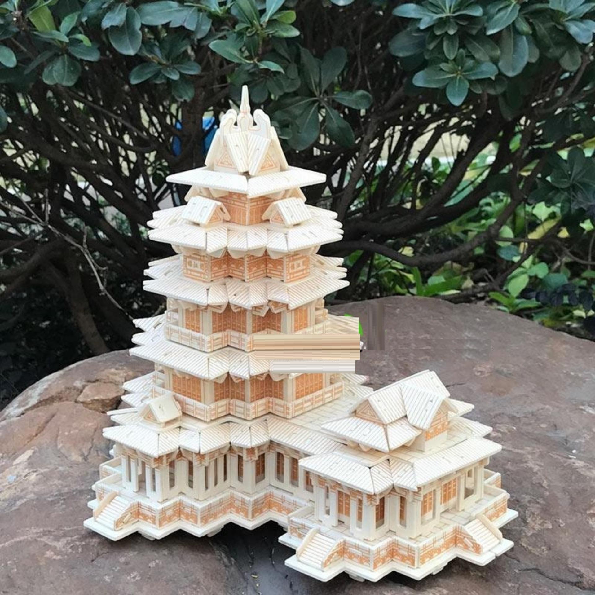 Đồ chơi lắp ráp gỗ 3D Mô hình tháp Yuejiang Tower
