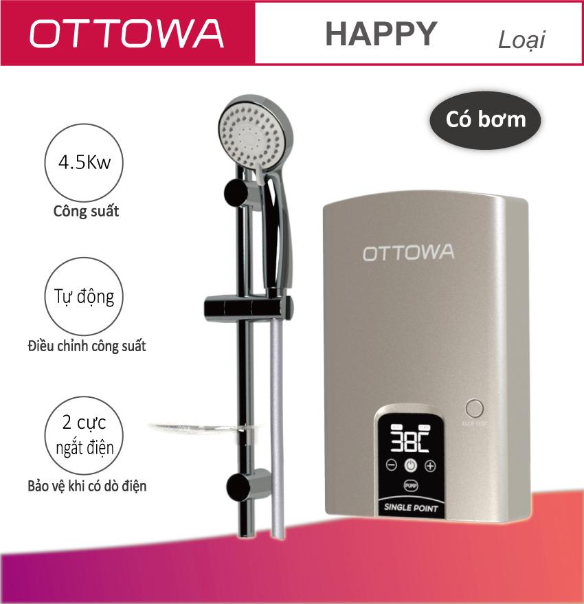 Máy tắm nước nóng OTTOWA TH4501- Hàng chính hãng