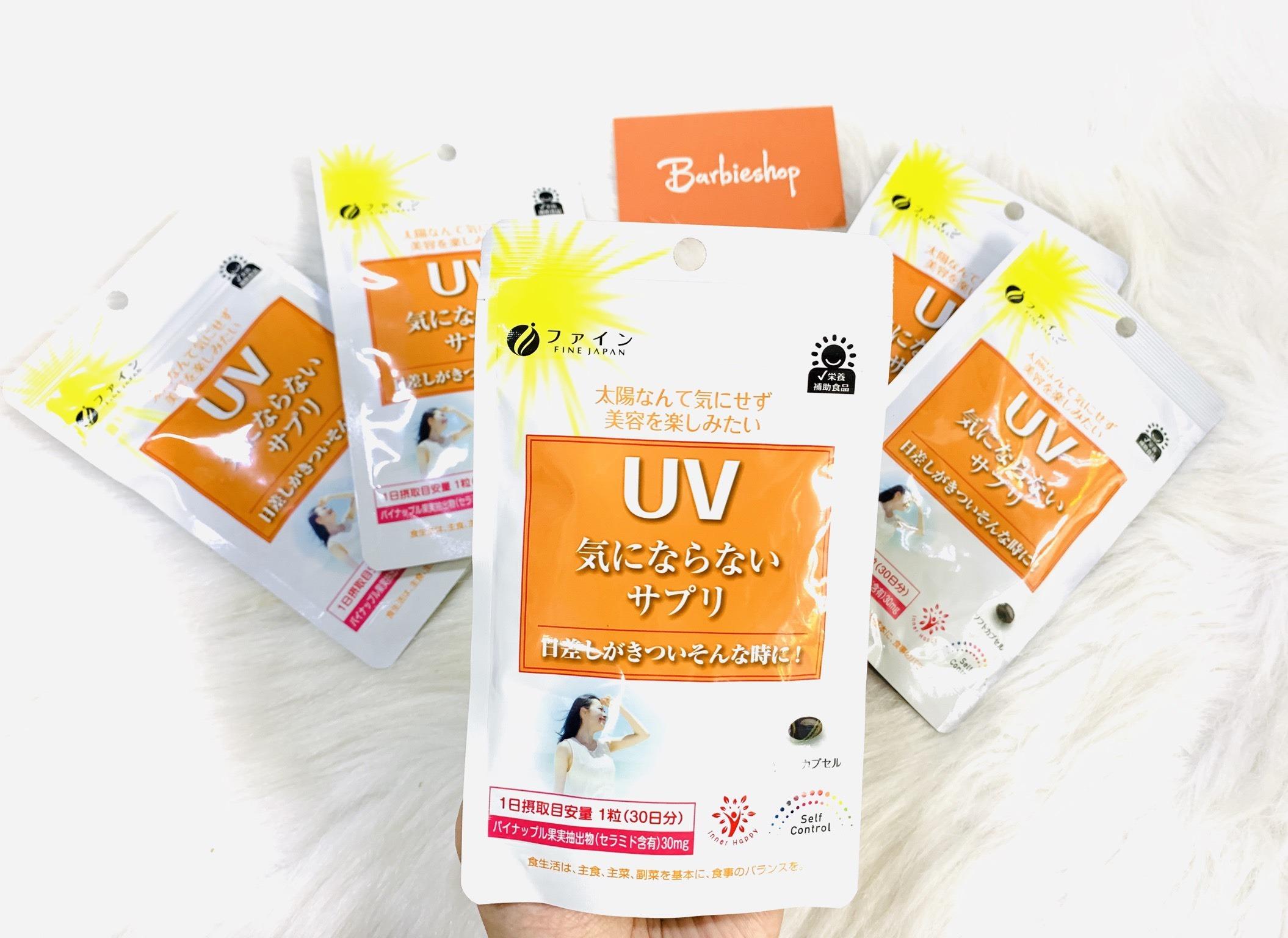 Viên uống chống nắng UV Fine Japan Nhật Bản, chống nắng toàn diện ...