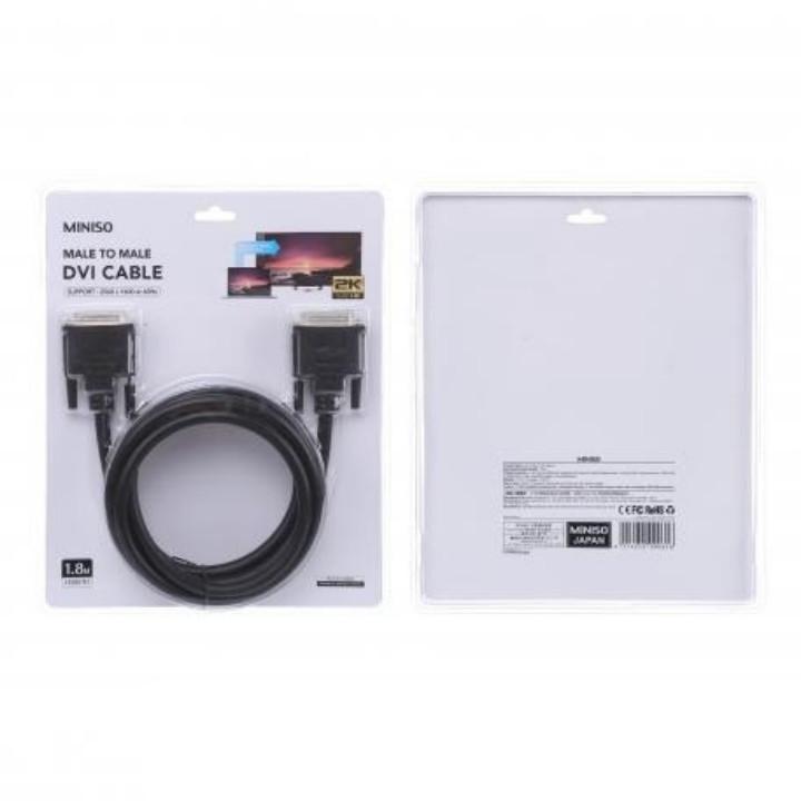 Cáp kết nối DVI Miniso 1.8m (Đen) - Hàng chính hãng