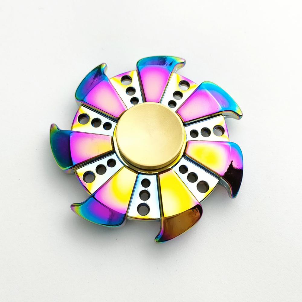 Con Xoay Tròn Hand Fidget Spinner 7 cánh mạ titan 150-300 giây Legaxi HSBB