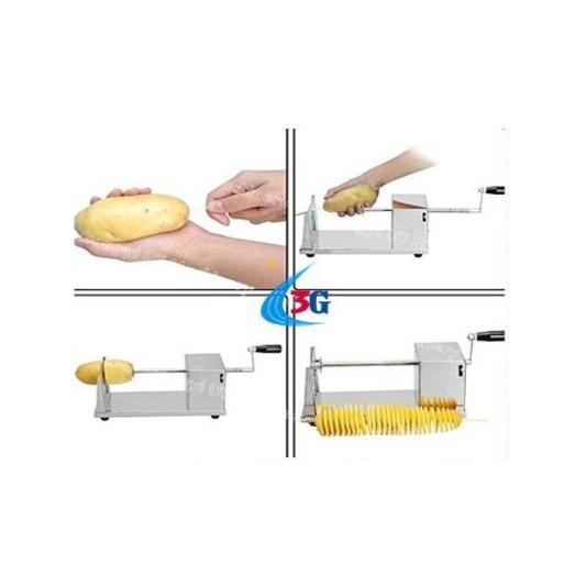 Máy cắt khoai tây lốc xoáy tiện dụng