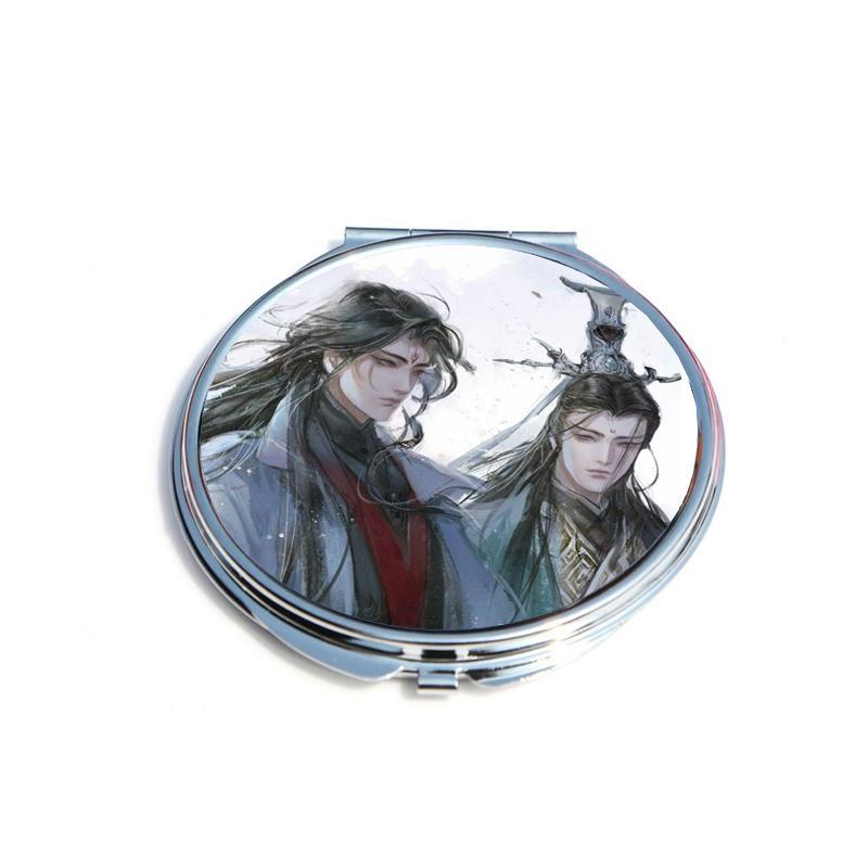 Gương Hệ thống anime chibi tự cứu gương bỏ túi cầm tay 2 mặt dễ thương tiện lợi quà tặng độc đáo (tròn)