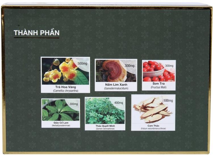 Thực phẩm chức năng bảo vệ sức khỏe Trà hỗ trợ Giảm Cân Phạm Gia Gold 3+ 2