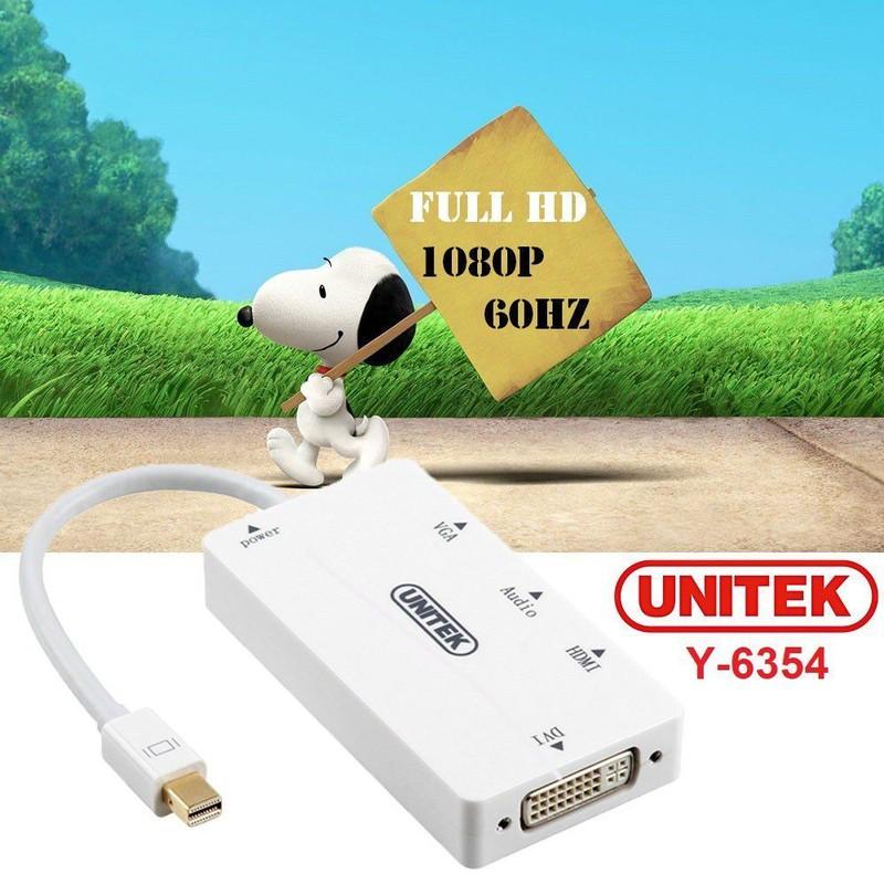 Cáp chuyển mini DP to HDMI VGA DVI Unitek 6354 -Hàng Chính Hãng