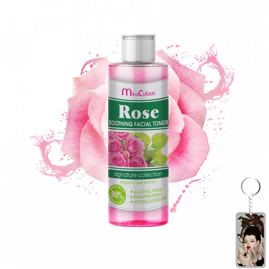 Nước hoa hồng MIRA CULOUS se khít lỗ chân lông, sáng da Hàn Quốc 100ml tặng kèm móc khoá