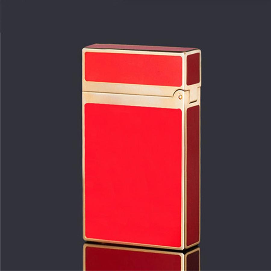 Hột Quẹt Bật Lửa Dùng Gas Đá Sơn Mài Trơn Thể Hiện Sự Sang Trọng Lịch Lãm ( Đỏ Vàng)