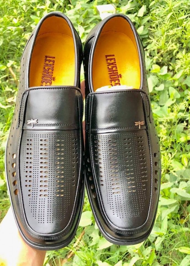 Giày lười da nam có thiết kế độc đáo - Lex63
