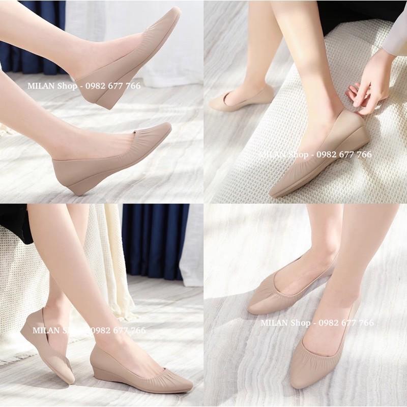 Giày cao gót đế xuồng cao 3cm êm chân siêu bền