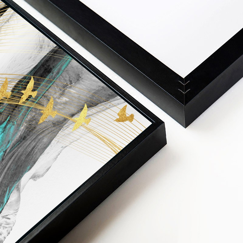 Tranh treo tường khổ lớn  – Tranh trừu tượng phong cách bắc âu CA179 - Vải canvas kim tuyến cán PiMa - công nghệ in UV - Khung viền composite - độ  bền màu 10 năm.