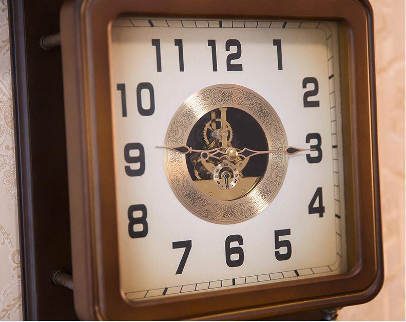 Đồng hồ treo tường quả lắc phong cách Bắc Âu DH67