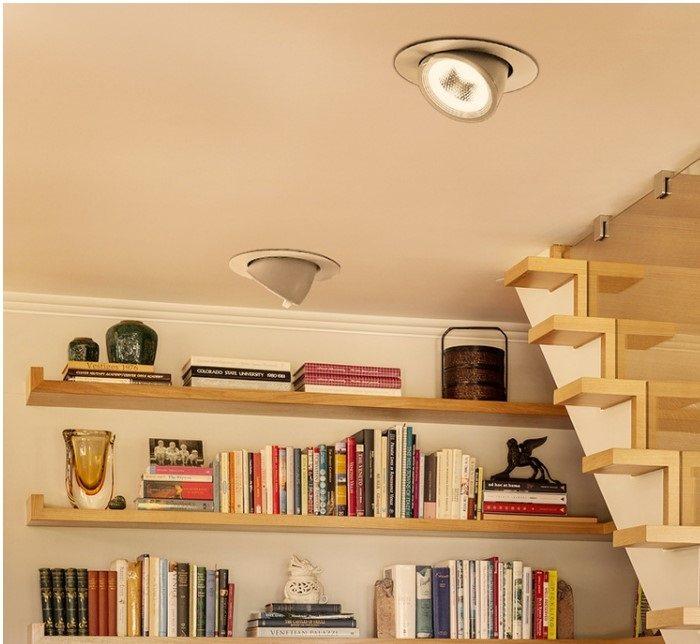 Bộ 7 Đèn Led âm trần đế xoay 360 độ 12w, đèn soi tranh, đèn trang trí shop hàng chính hãng.