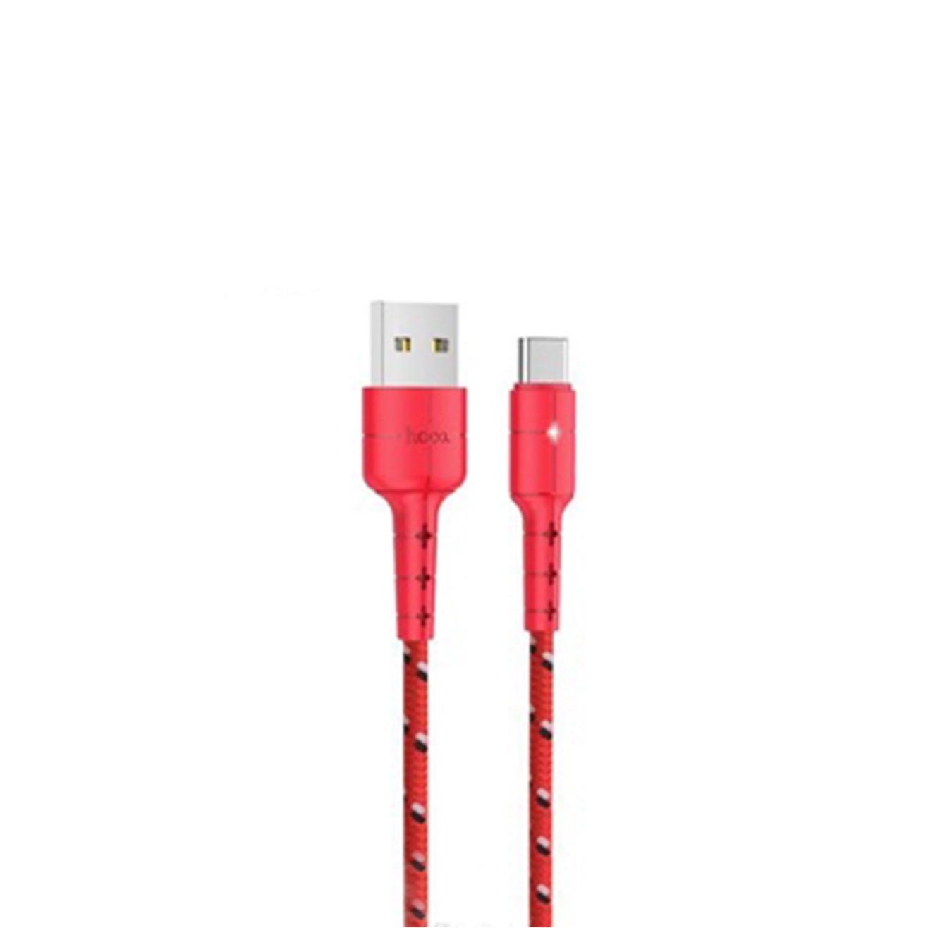 Cáp sạc Hoco X14 Pro (Type C) cáp sạc bọc dù siêu bền, hỗ trợ sạc nhanh 3A Max, tự ngắt khi pin đầy, LED báo sạc dành cho Samsung Galaxy Note 9/Note10/S9/S10/S10 Plus  - Hàng chính hãng