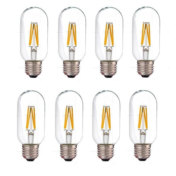 Bộ 8 bóng đèn Led Edison T45 4W đui E27.