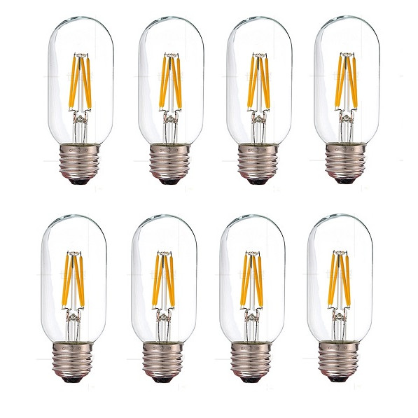 Bộ 8 bóng đèn Led Edison T45 4W đui E27 hàng chính hãng.