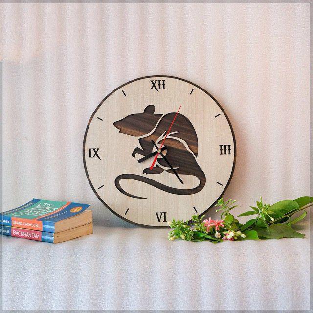 Đồng hồ treo tường decor 12 con giáp