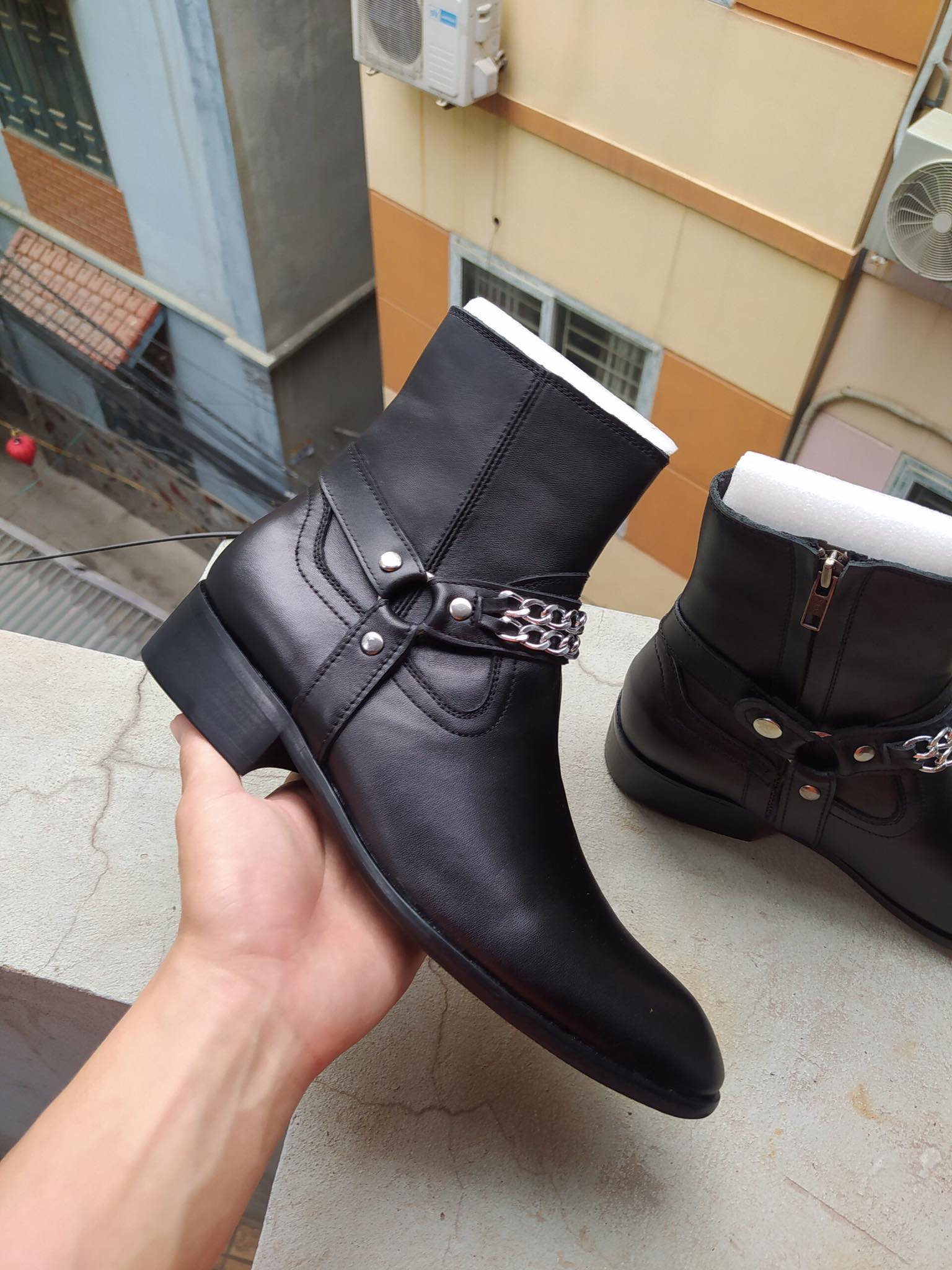 Giày Nam Harness Boots Cao Cấp