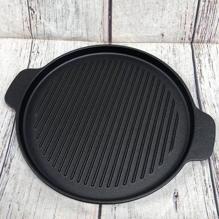 Chảo nướng gang bếp cồn chống dính 24 cm