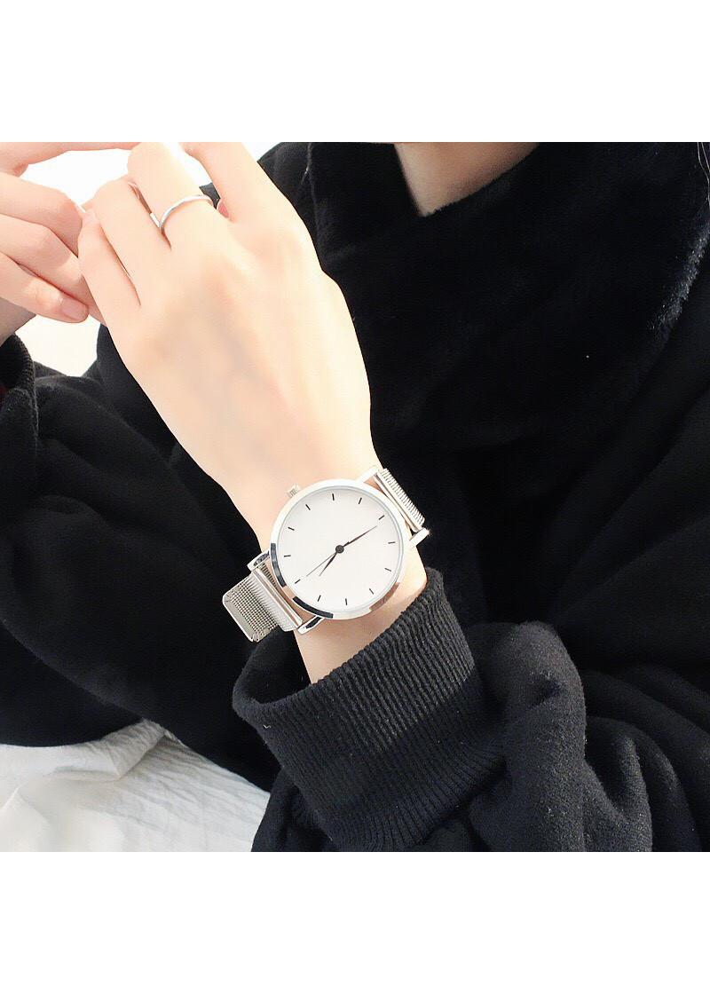 Đồng hồ thời trang nam nữ lưới cặp womage DH63