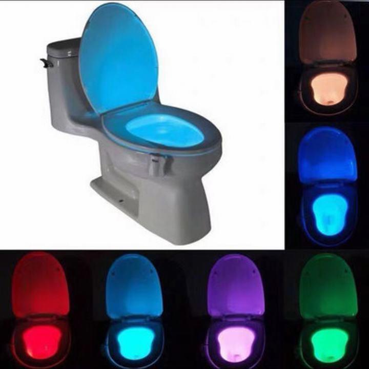 Đèn LED Cảm Ứng Tự Động 8 Chế Độ Màu Dành Cho Toilet