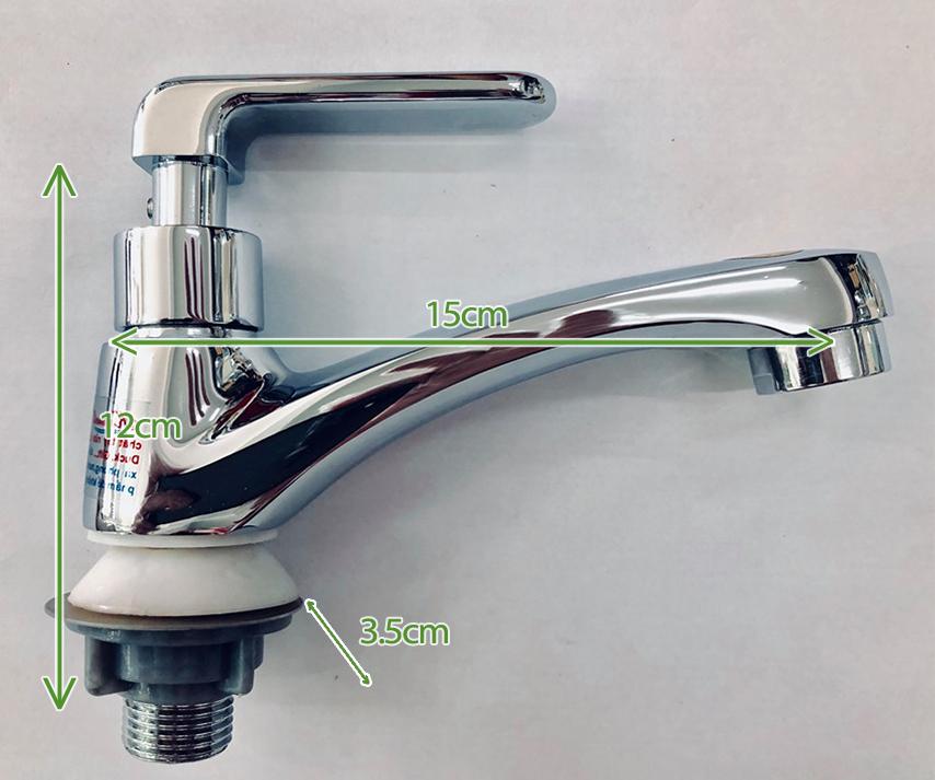 Vòi bồn rửa mặt Lavabo tay cầm thẳng Kannell KN-VLA017B – Thau mạ Cr Ni